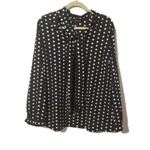 3 for $25 Lane bryant polka dot blouse with tie